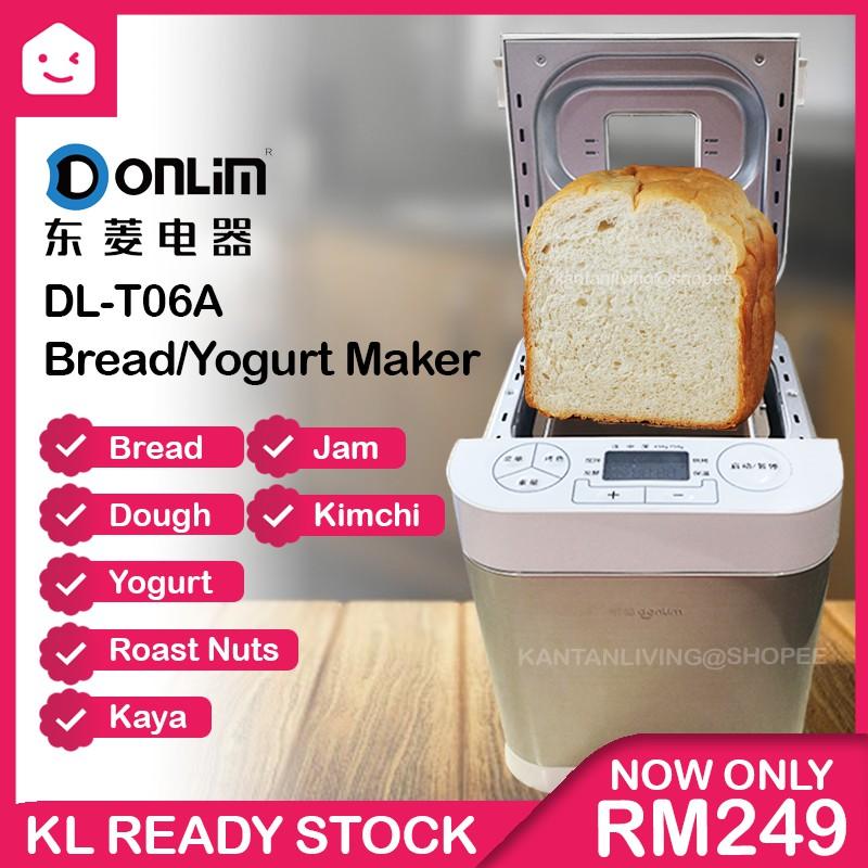 🔥NEW STOCK🔥 DONLIM DL-T06A Digital Full Automatic Bread Maker Yogurt Cake Jam Dough Mixing Machine 东菱面包机现货!
