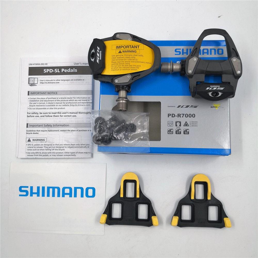 Details about  /Shimano 105 PD-R7000 SPD-SL Carbon Fiber Road Bike Pedals+SM-SH11 Cleat New