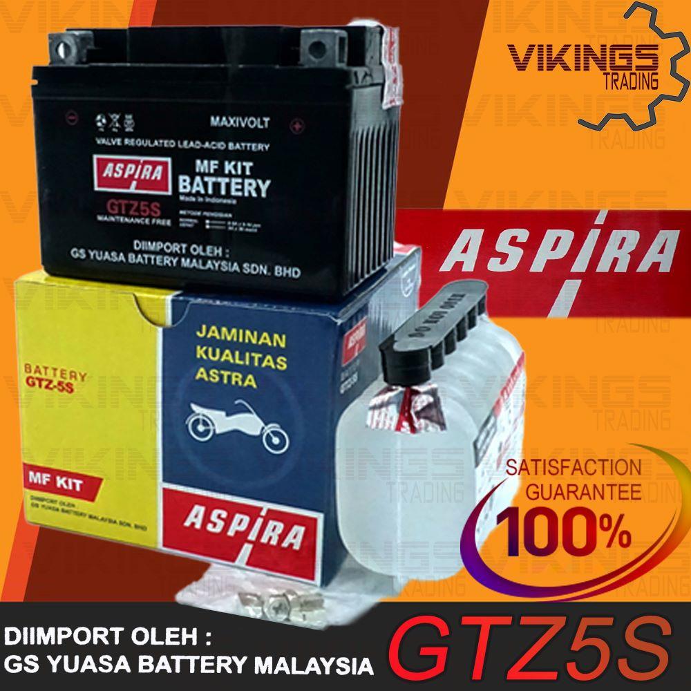YTZ5 GTZ5S YTZ5S AGM VRLA BATTERY ASPIRA YUASA MALAYSIA GTZ5-S GTZ5S YTZ5 LC135 WAVE EX5 XCITE EGO LAGENDA 115 FZ150i