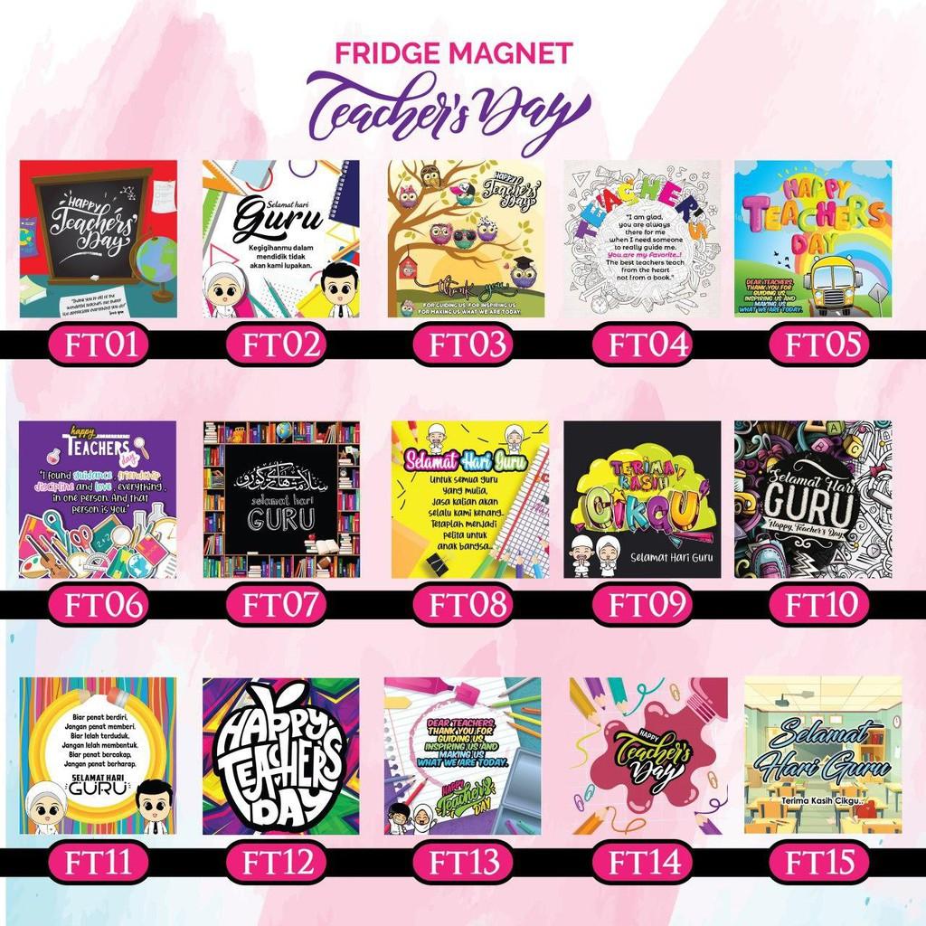 Hadiah Hari Guru 2020 Fridge Magnet 50pcs Rm50 Ready Stock Shopee Malaysia