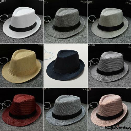 135d58f9d ღtwღIndiana Jones Style Mens Women Panama Hat Straw Fedora Hat Wide Brim