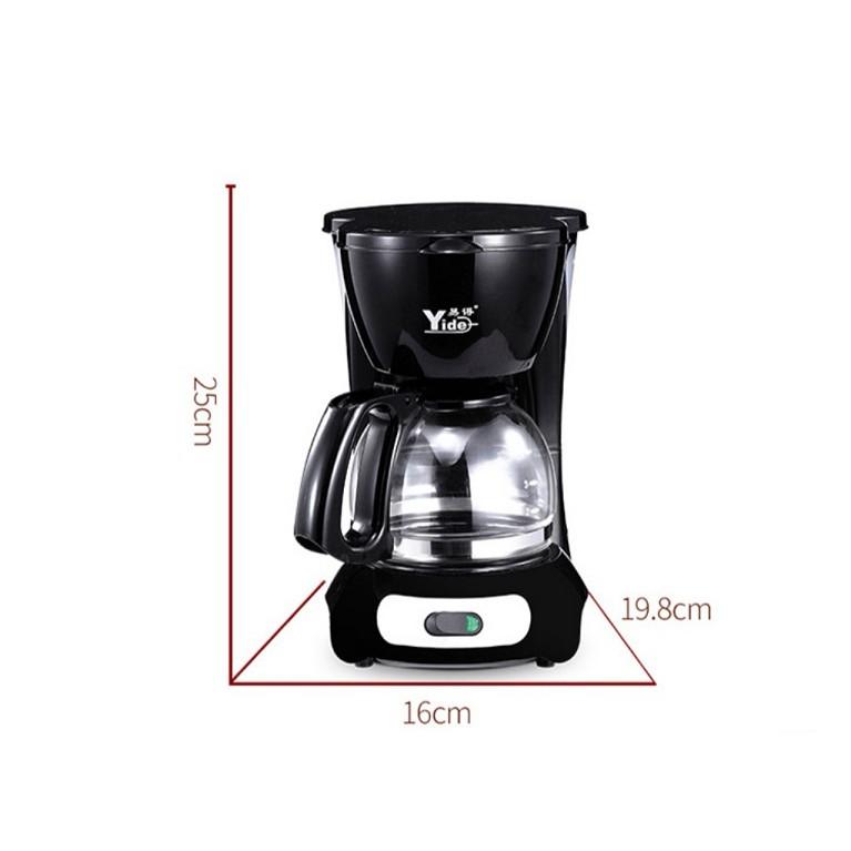 [ READY STOCK ]  Electric Coffee Tea Machine Household Automatic Coffee Maker Kitchen Kopi Box Jualan Murah Stainless Jar