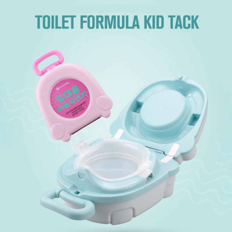 Pink MY CARRY POTTY Childrens Training Portable Travel Potty With Lid No Leaks