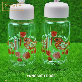 1pc 13x6cm Wedding Souvenir Door Gift Sweet Home English Rose Glass Tumbler Botol Air Kaca Cenderahati Kahwin H 9024 Shopee Malaysia