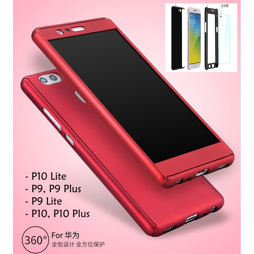 Huawei P10 Lite P10 Plus P9 Lite P9 Plus 360 Full Cover Case With Tempered Glass
