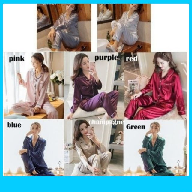 Women Silk Satin Pajamas Set Sleepwear Loungewear Plus Size M~5XL