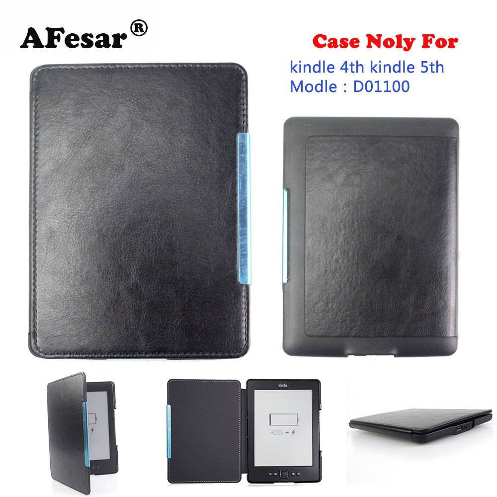 pu leather Magnet Cover Case for Amazon Kindle 4 Kindle 5 D01100 4th 5th  ebook