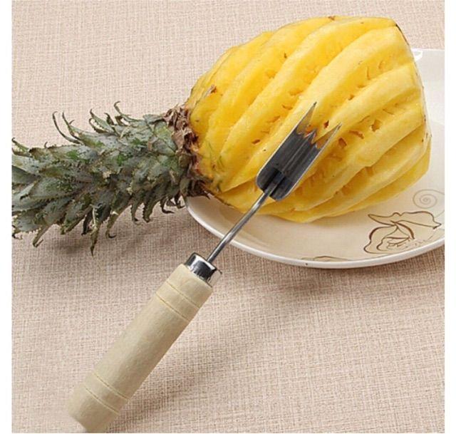 Pineapple Peeler V-shaped Pineapple Cutter Slicers Stainless Steel