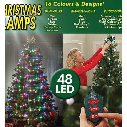 Outdoor 48 Led Bulbs Tree Dazzler Lights Multicolor Christmas Tree String Light