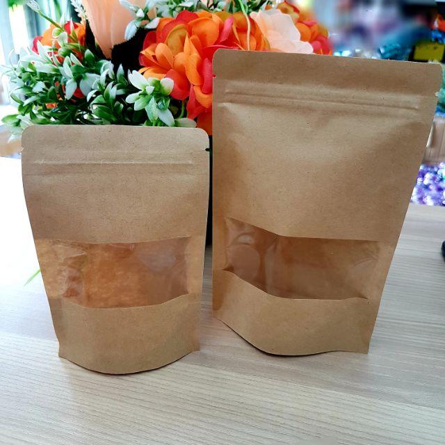 🎁🎀 Kraft Ziplock Bag for Food Packaging / Beg Ziplock Untuk Makanan Biskut  (20 pcs) 🎀🎁
