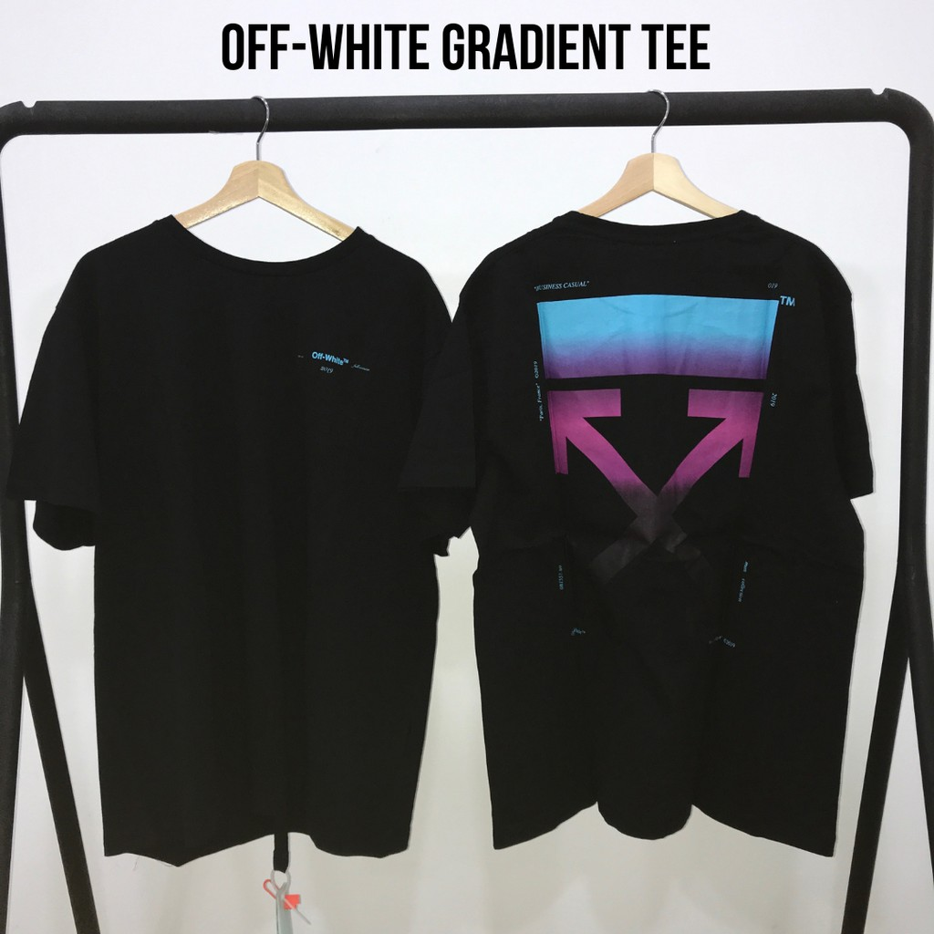 f91bb6b2 Off-White Gradient Black Oversized Tee | Shopee Malaysia
