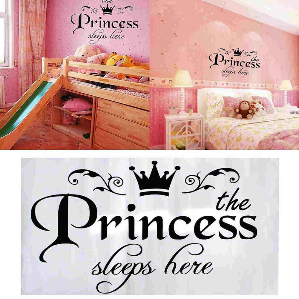 Removable Princess Sleeps wall sticker Art Vinyl Decals Baby Girls
