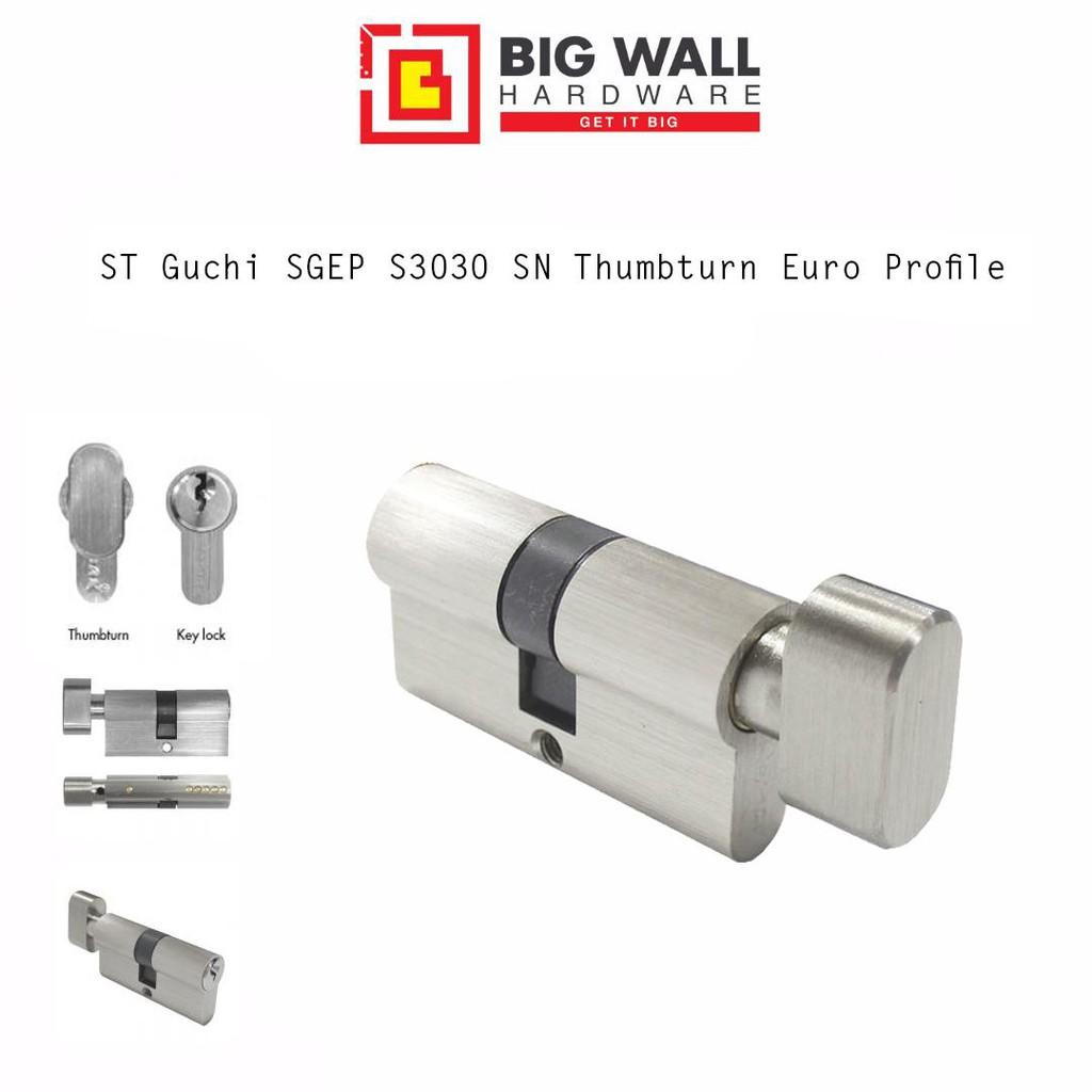 ST Guchi SGEP S3030 SN Thumbturn Euro Profile (60 mm 70mm 80mm 90mm) Big Wall Hardware