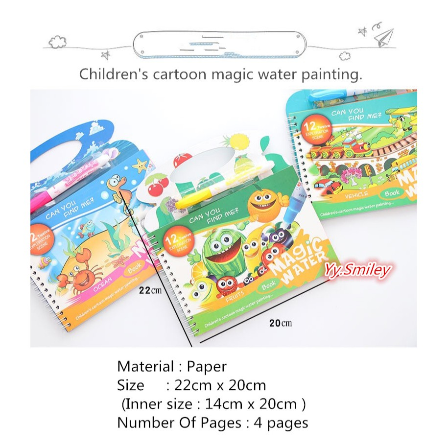 1 X Magic Water Painting Paper