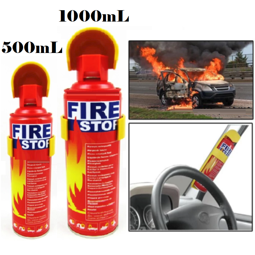 500mL and 1000mL Fire Extinguisher Fire Stop Foam Home Emergency Life Saviour 1