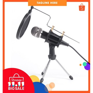Mic Speaker Condenser Microphone Set Studio Sound Recording Mic With Shock Mount