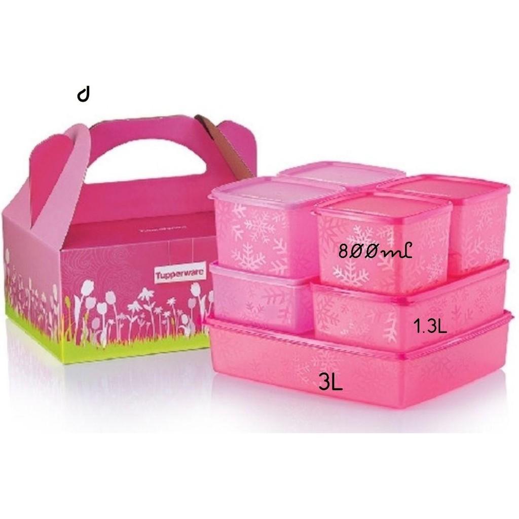 Bekas simpan makanan peti sejuk organizer container / TUPPERWARE Original murah / fridge food container / bekas tapau