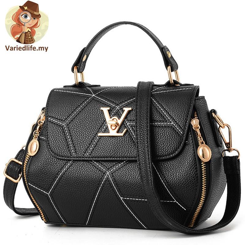korean handbag women 2019Simple and fashionable PU leather