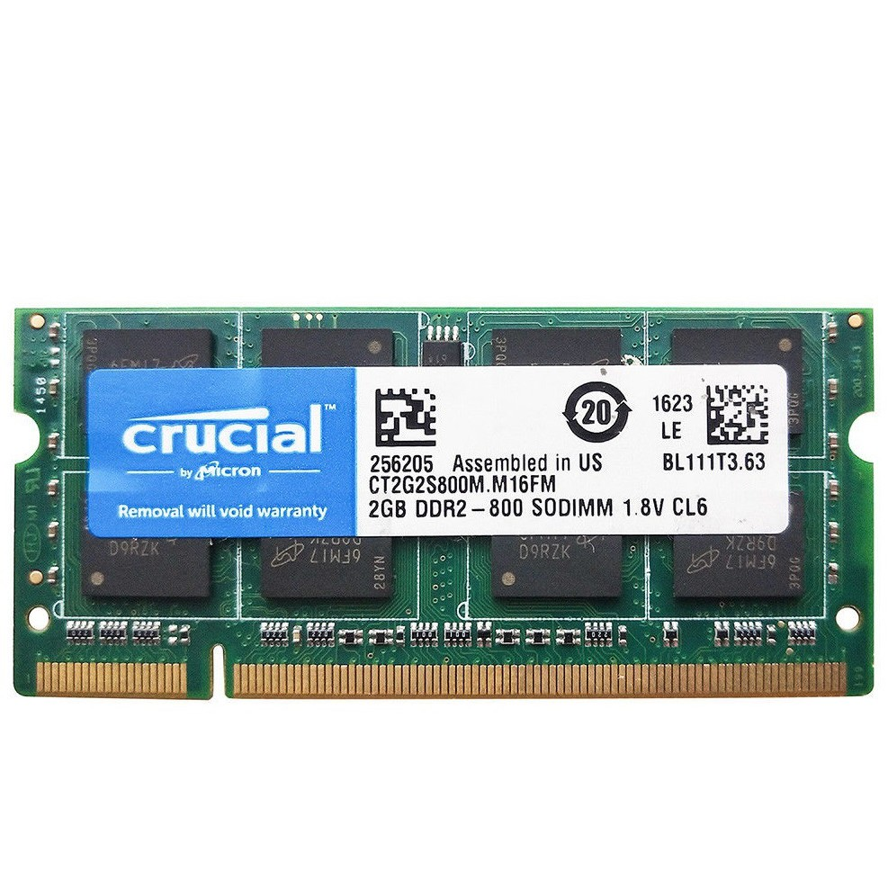 2 x 1GB DDR2-800 PC2-6400 Laptop Memory SO-DIMM Micron Samsung Hynix Nanya