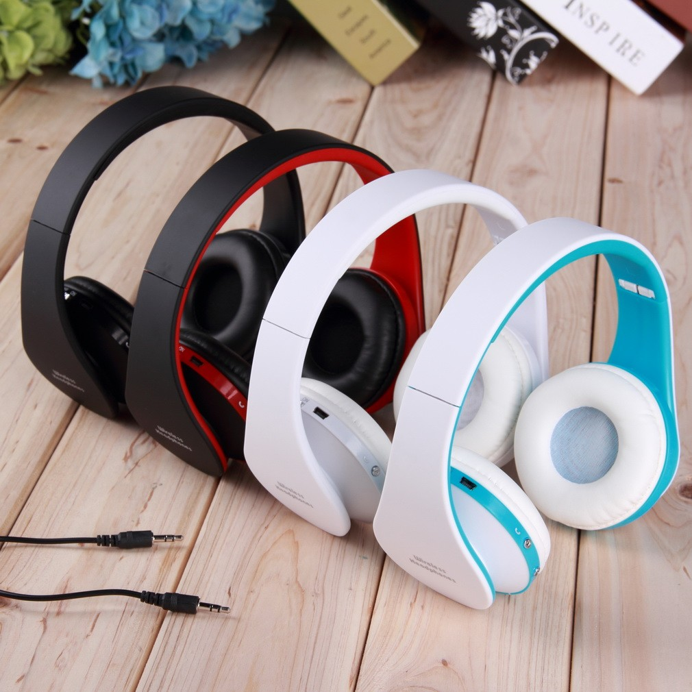 Foldable Wireless Stereo Bluetooth Headset For Iphone Cellphone Pc Laptop Shopee Malaysia