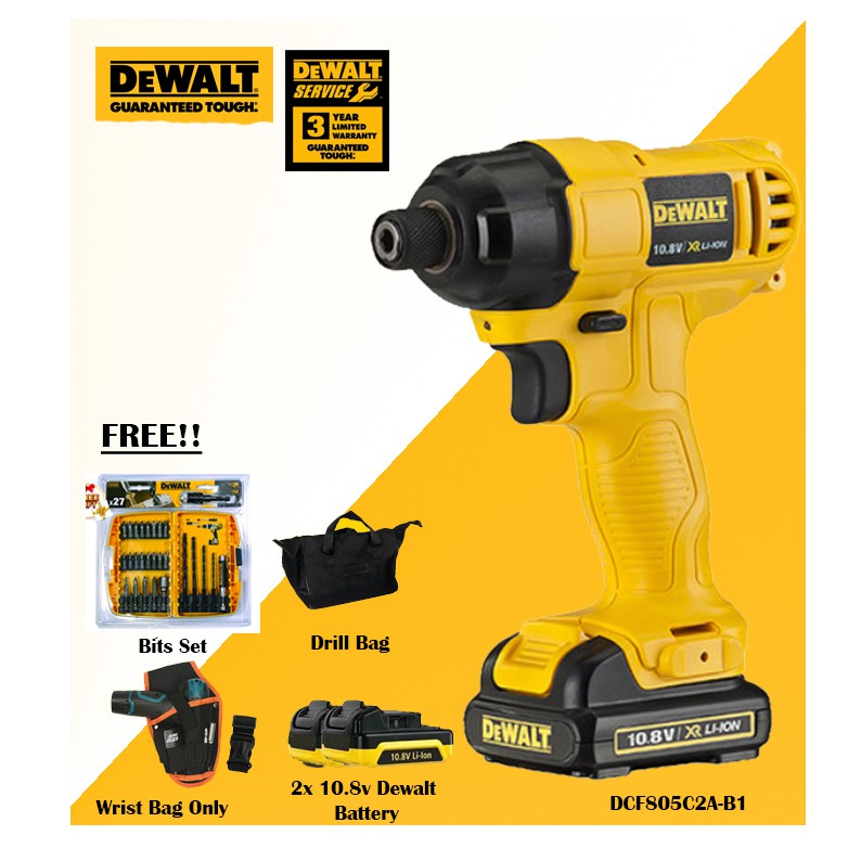 DEWALT 10 8V IMPACT DRIVER Cordless Drill Driver DCF805C2A