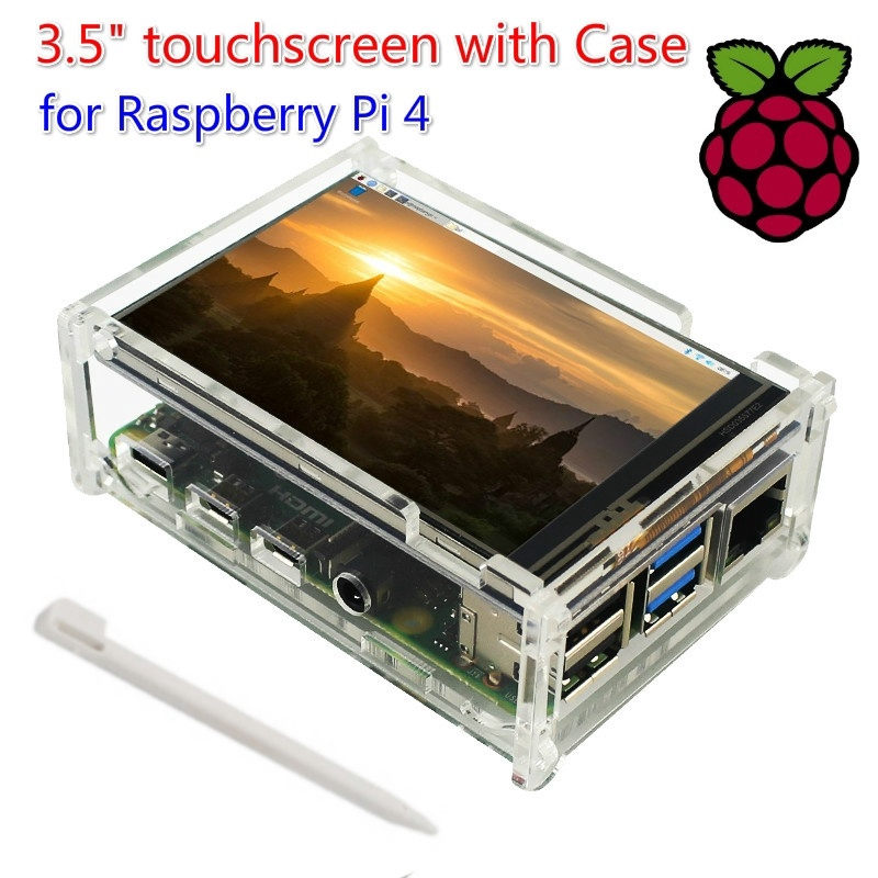 Raspberry Pi 7 Inch LCD Touch Screen Bracket Holder Acrylic Protective Case//Shell//Enclosure for Raspberry Pi 3B+//3B//3