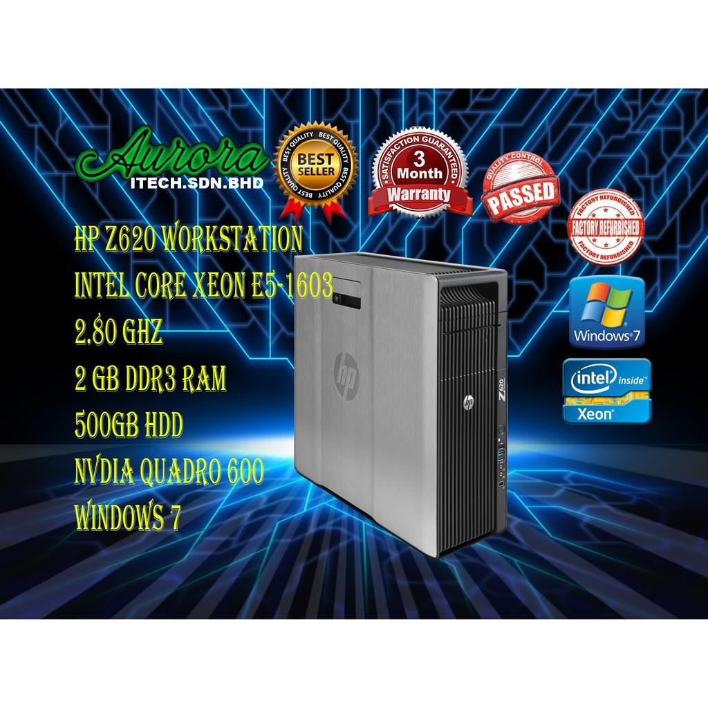 (REFURBISHED)HP Z620 Workstation Xeon Desktop / Intel Xeon E5-1630 2 80GHZ