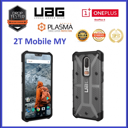 detailed look 0e096 9650b OnePlus 6 1+6 UAG Urban Armor Gear Plasma Case Bumper ORIGINAL