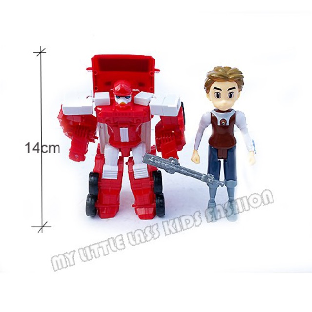 TOBOT 2 in 1 Robot Transformation Toy with Hero Human Toys For Boys