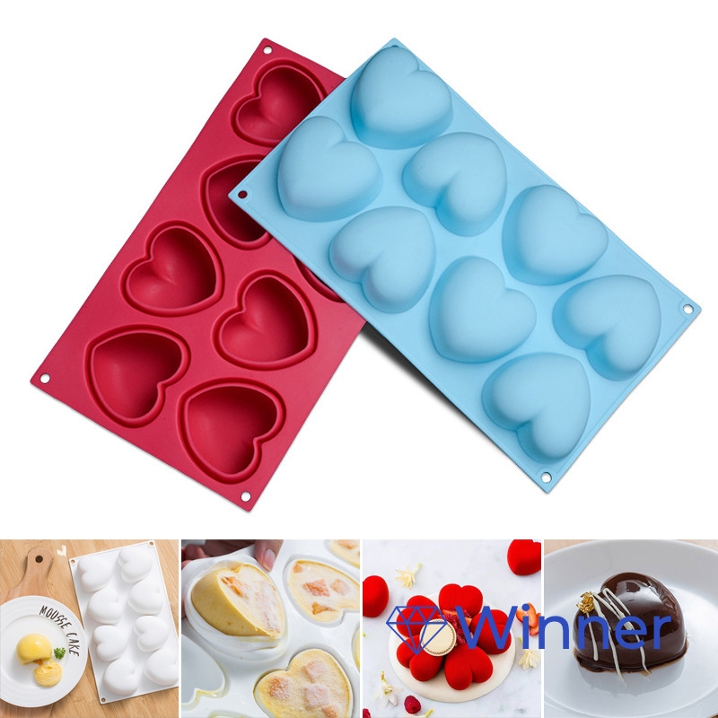 3D Heart Cake Fondant Mold Chocolate Bread Pastry Baking Mould J