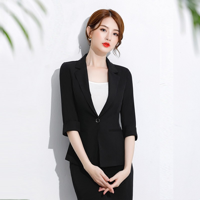 College Students Black Small Fragrance Professional Fashion Work Clothes Are Dressed In Interview Suit Skimm Women S Sui Shopee Malaysia