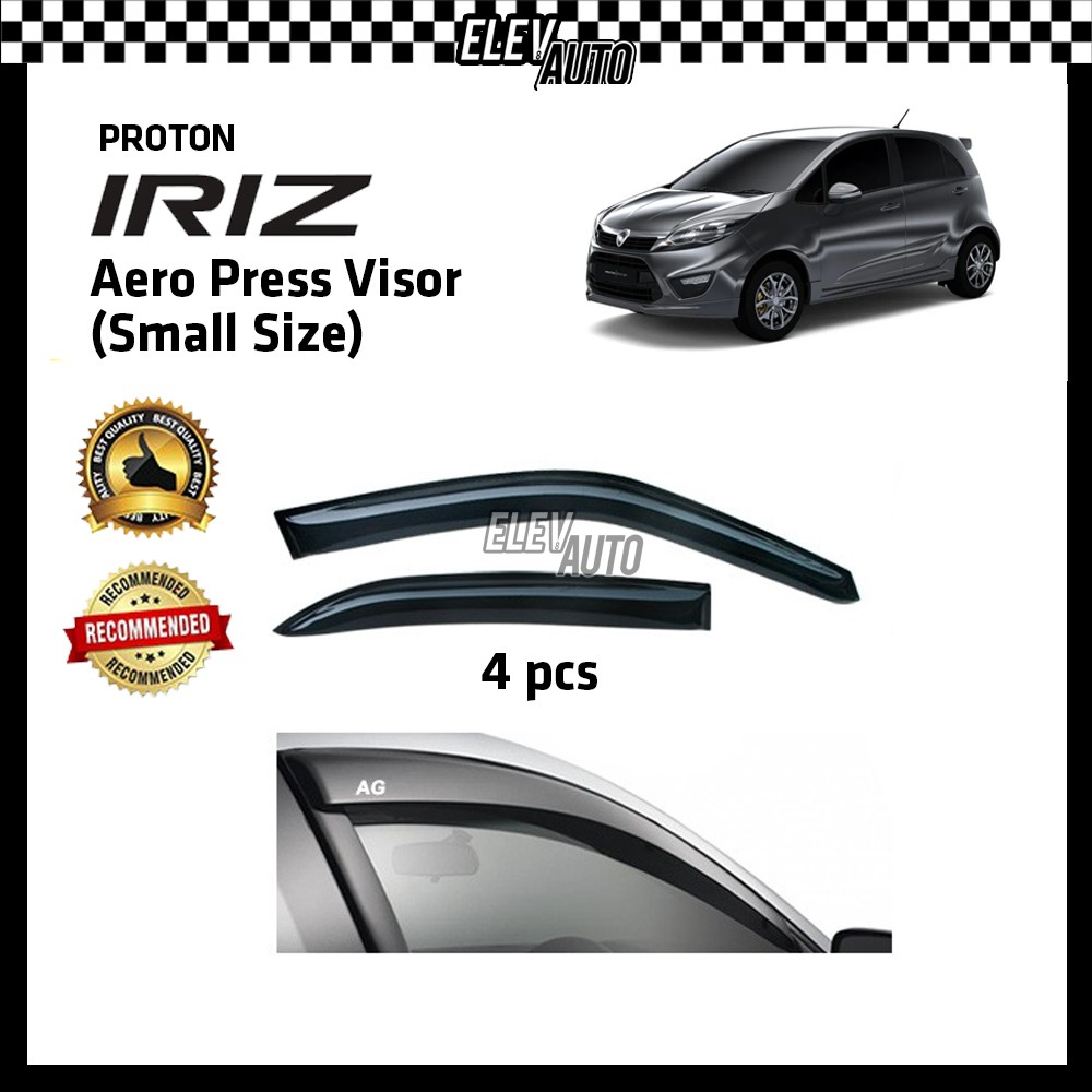 "Proton Iriz Premium Slim AERO Press Injection Door Visor (2"")"