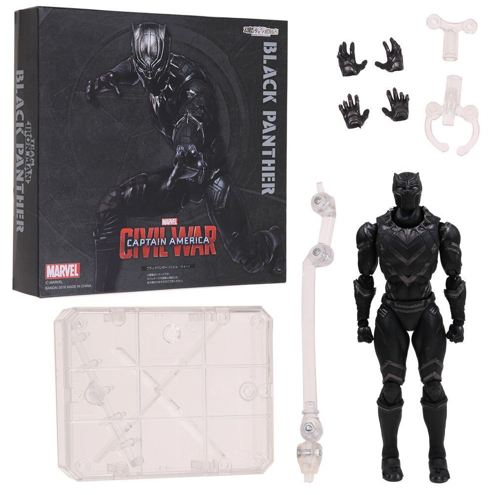 """6/"""" S.H.Figuarts Black Panther Figure Captain America Civil War SHF Toy in Box"""