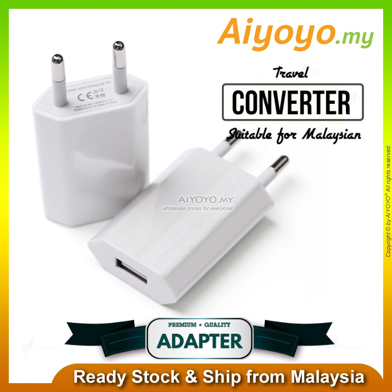 5V1A USB Adaptor Plug Socket Travel Charger AC Power Fast Charging Phone
