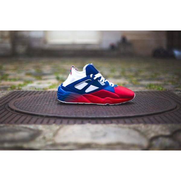 d34af2ec862b newest Sneakerness x PUMA Blaze of Glory Sock Paris Patriot blue red for men