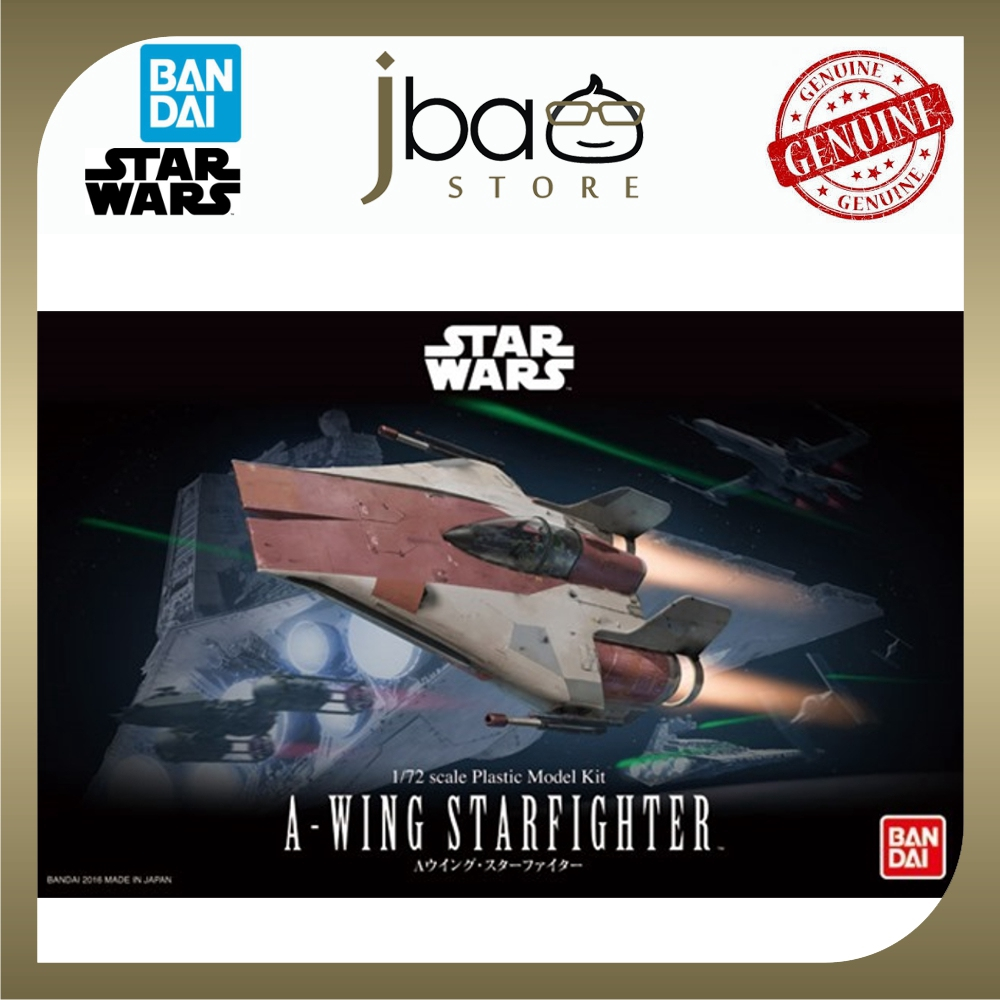 Bandai 1/72 Star Wars A-WING STARFIGHTER with Turbo Laser Base Plastic Model Kit
