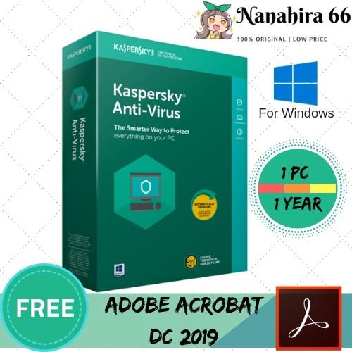 KASPERSKY ANTI VIRUS 2019 1 YEAR FOR PC ORIGINAL + INSTRUCTION + INSTALLER