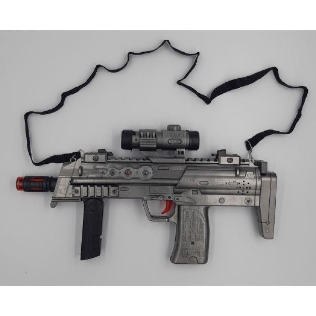 FREE BATTERY Machine gun  toys with Flash Sound pistol mainan .