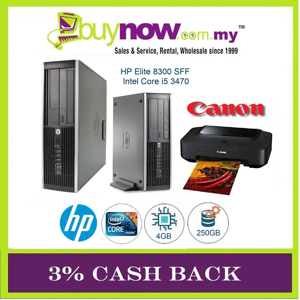 Refurbished HP Elite 8300 SFF i5/4GB/250GB/WIN OS+NEW PRINTER CANON/3% CASH  BACK