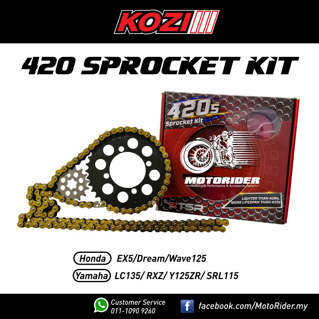 KOZI 420 Chain & Sprocket Set