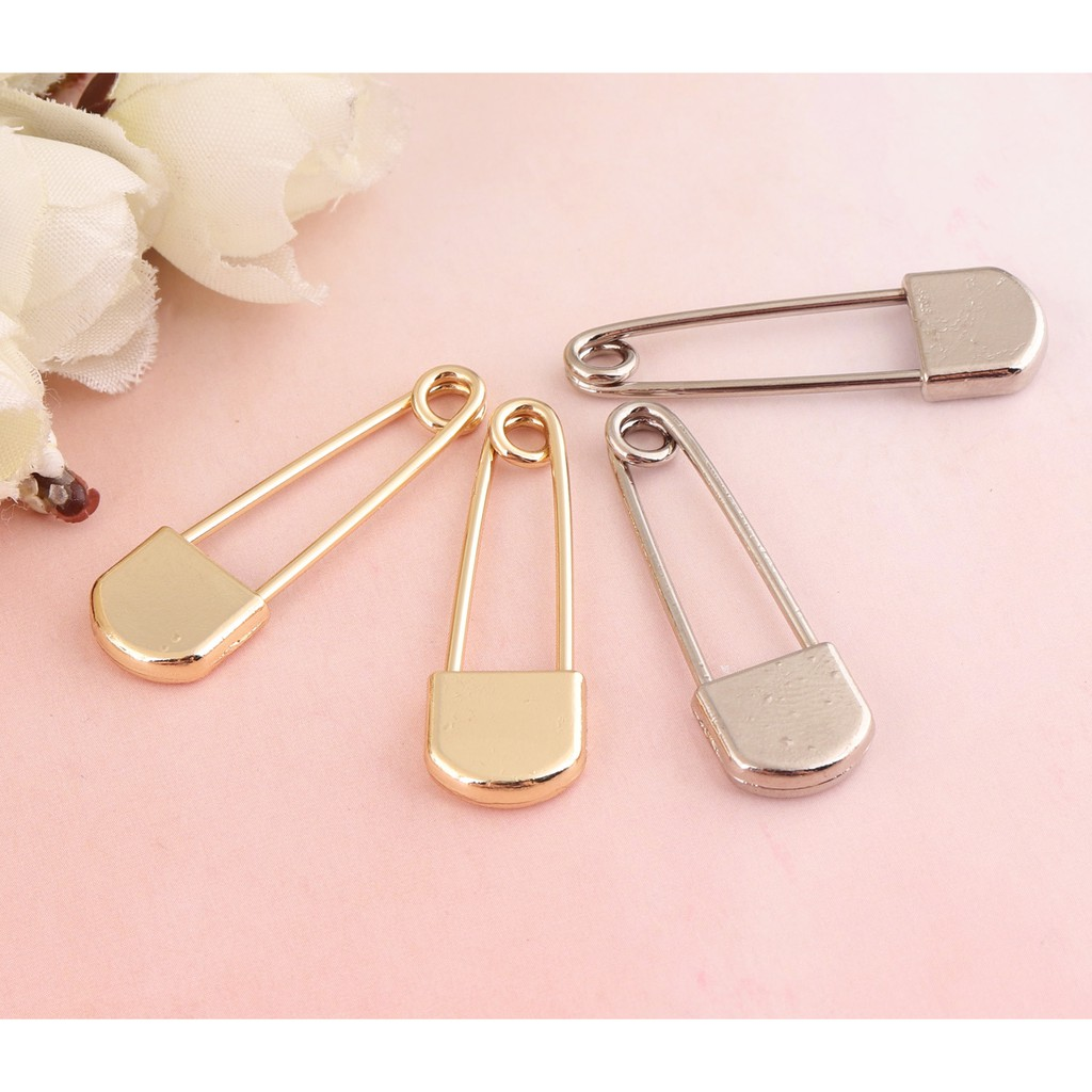 50pcs Gold Safety Pin Mix And Match Colors Bulb Pins Garment Great For Storing Zippers Silver Bulk Safety Pins Minimalist Safety Pin Earring Baby Safety Pin Shopee Malaysia