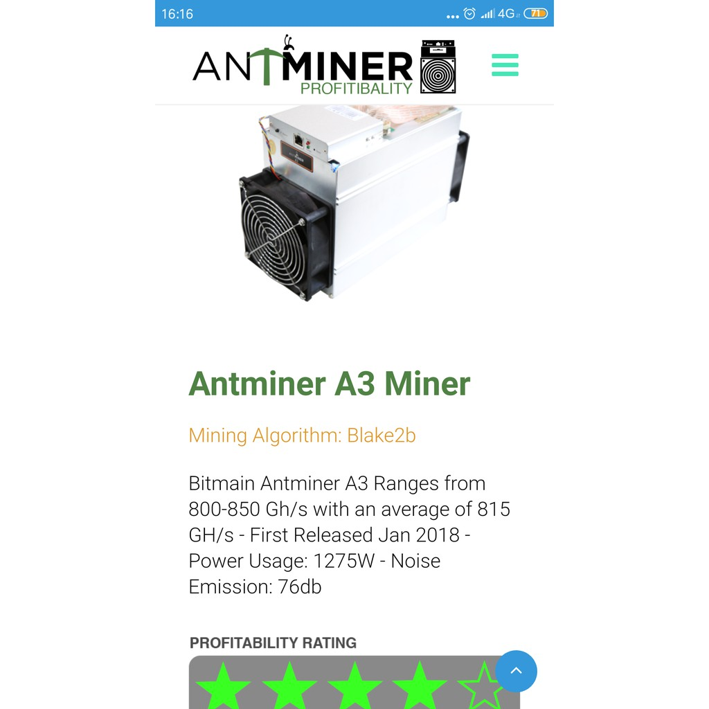 Bitmain - Antminer A3