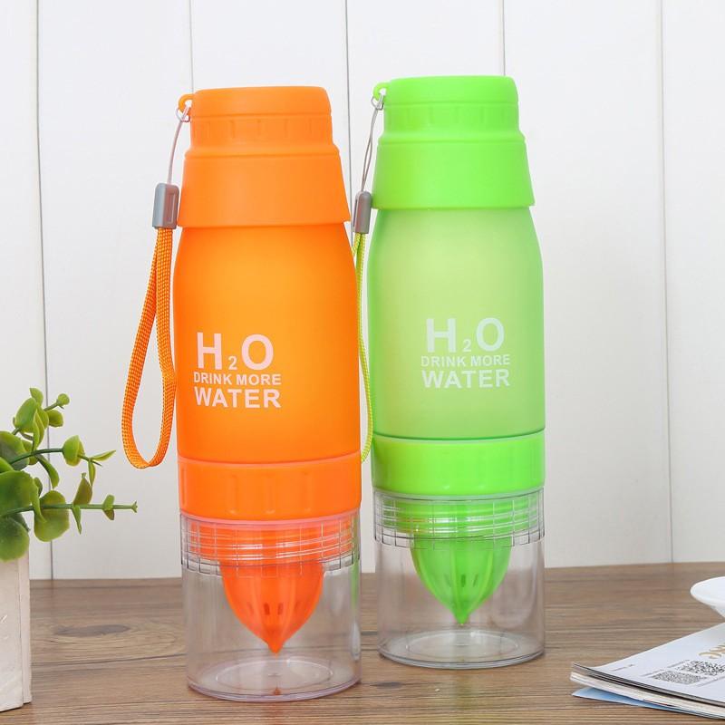 700ML Lemon Cup Bottle H2O Drink More Water Drinking Bike Bottle