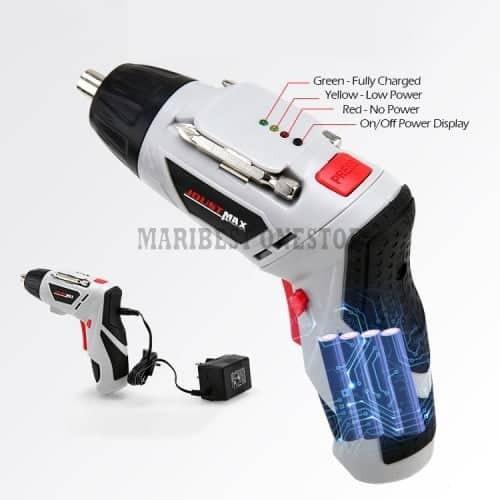 Rechargeable Cordless Screwdriver Drill Machine Joustmax JST24802 47pcs