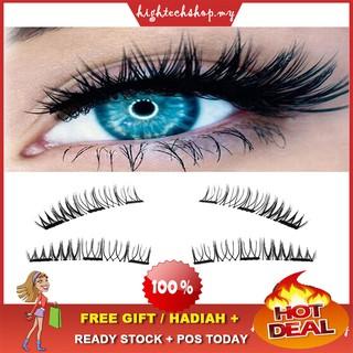 Beauty Essentials New 8pcs Black 3d False Eyelashes Double Magnetic Magnetic Eyelashes Pure Hand Made Eye Lashes Makeup Tool Eyelash Extension