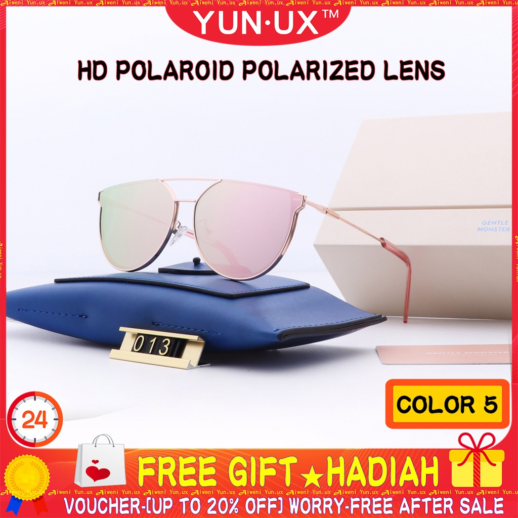 1153096d43a8 ProductImage. Oops! Your browser is not compatible with Shopee Video :-( 🎁  YUN.UX™ Women Polarized Sunglasses Men Metal Frame Fashion Glasses V013