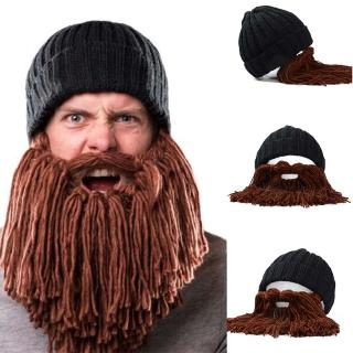 be53f1316 Man Vikings Beanies Knit Hats Beard Handmade Knitted Men's Winter ...