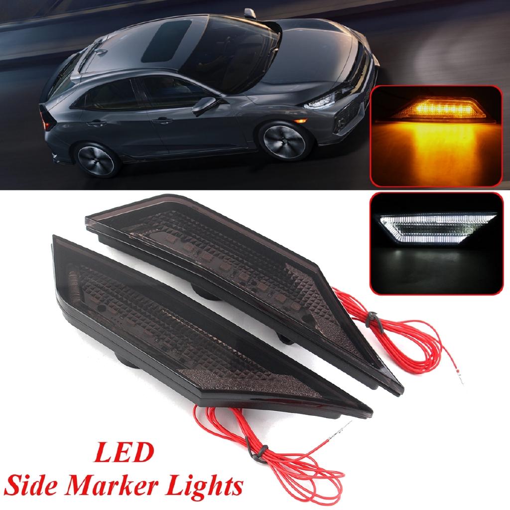 Pair Car LED Saddlebags Side Marker Light Lighting Bulb Lamp Red for Harley