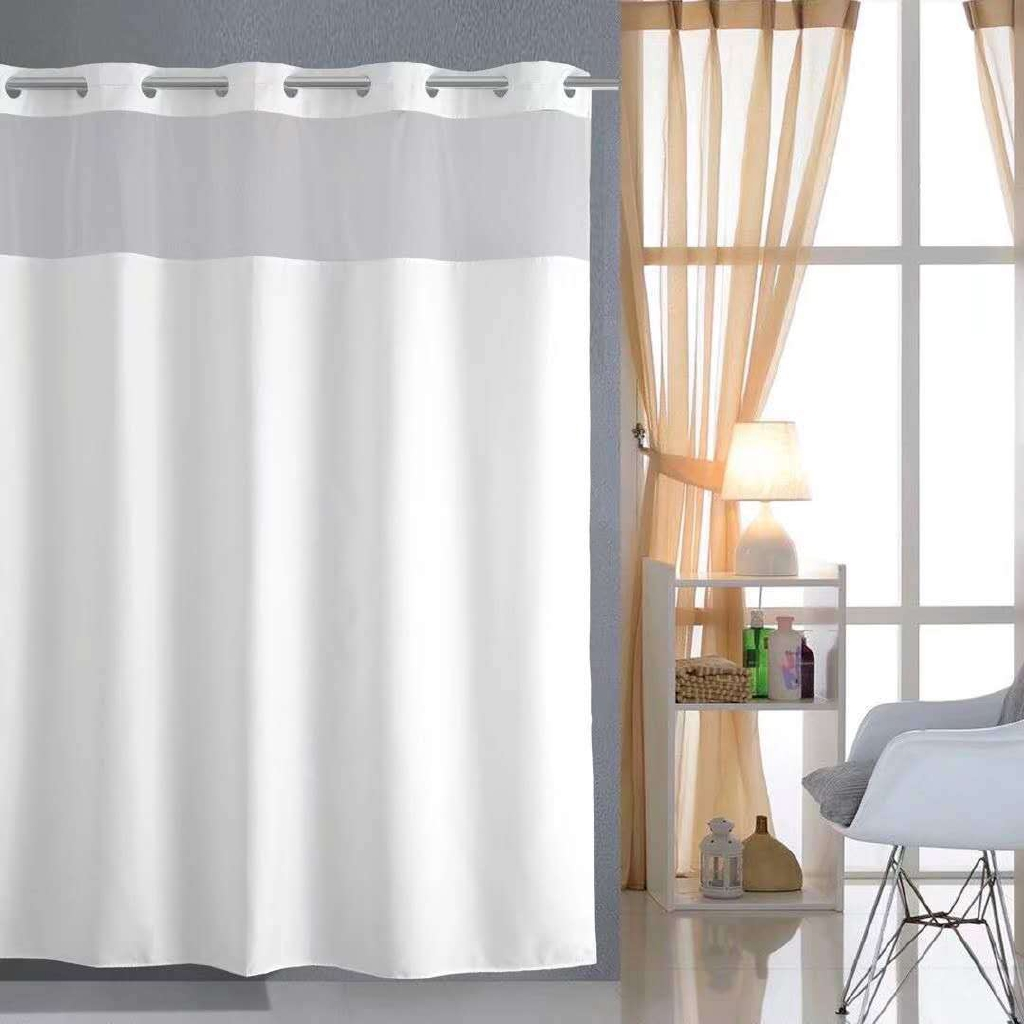 High Grade Polyester Shower Curtain Thickened Large Ring Bathroom Curtain Bathroom Partition Curtain