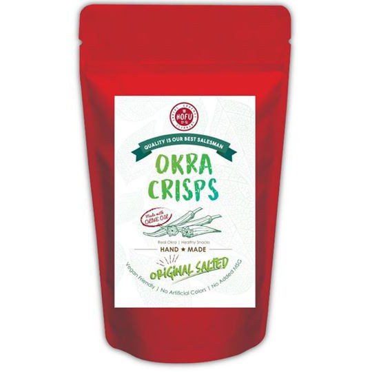 [Original] Hofu Original Salted Okra Crisps Packet (60g) 原味秋葵脆片